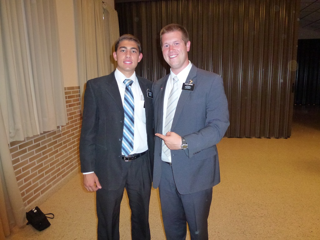 Elder Queirolo and Elder Hudgins